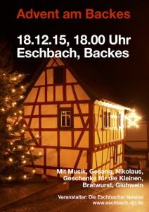 Plakat - Advent am Backes